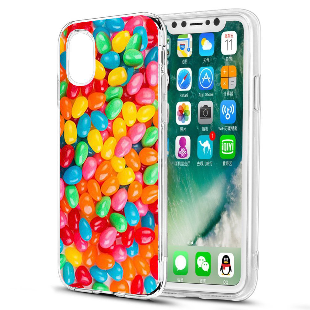 [REDshield] Apple iPhone X TPU Case, [Jellybeans] Slim & Flexible Anti-shock Crystal Silicone Protective TPU Gel Skin Case Cover