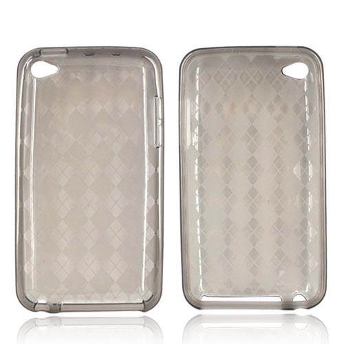 Luxmo Apple iPod Touch 4 Crystal Silicone Case - Diamonds on Smoke