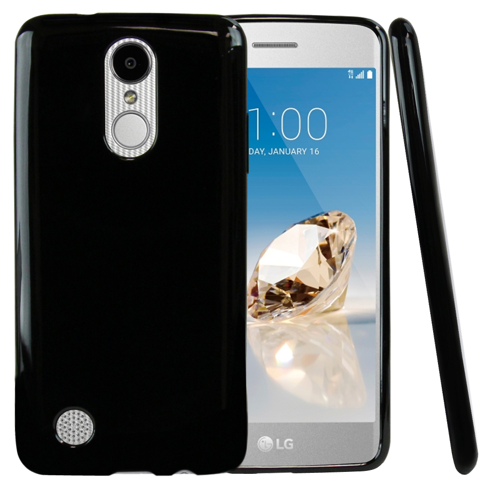 LG Aristo/ Fortune Case, REDshield Slim & Flexible Anti-shock Crystal Silicone TPU Skin Protective Cover [Black]