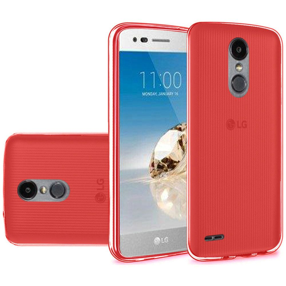 [LG ARISTO 2/ X210/ LG TRIBUTE DYNASTY] [REDSHIELD] TPU Case, Slim & Flexible Anti-shock Crystal Silicone Protective TPU Gel Skin Case [RED]