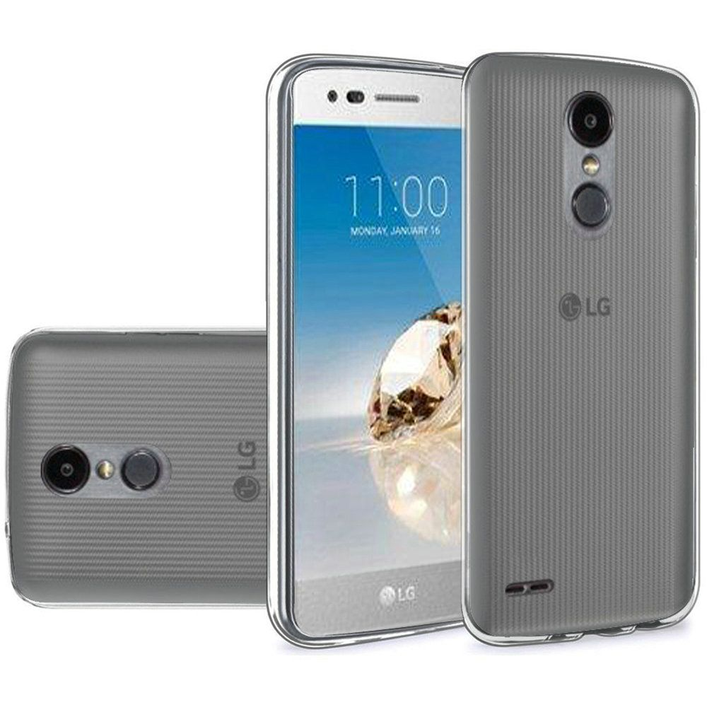[LG ARISTO 2/ X210/ LG TRIBUTE DYNASTY] [REDSHIELD] TPU Case, Slim & Flexible Anti-shock Crystal Silicone Protective TPU Gel Skin Case [SMOKE/GRAY]
