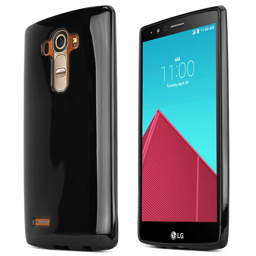 LG G4 Case, [Black] Slim & Flexible Anti-shock Crystal Silicone Protective TPU Gel Skin Case Cover