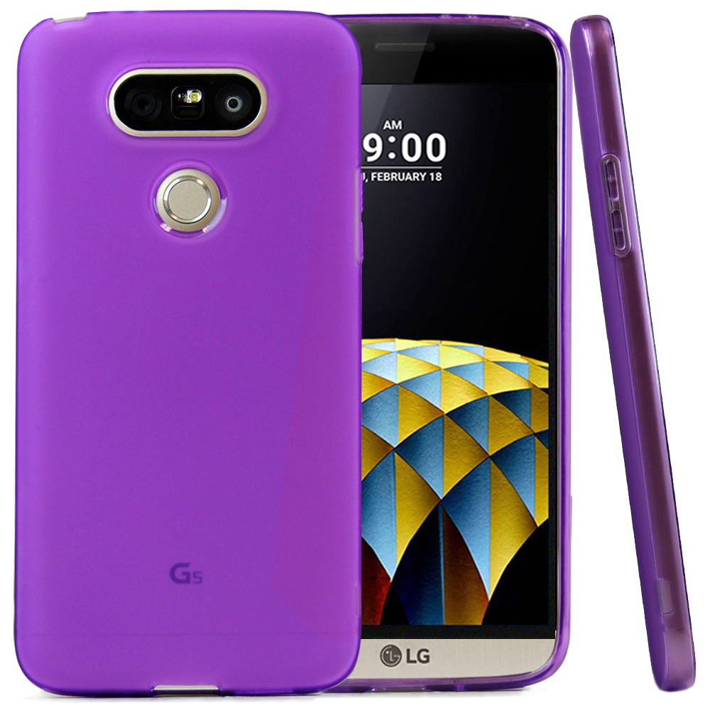 LG G5 Case, REDshield [Purple]  Slim & Flexible Anti-shock Crystal Silicone Protective TPU Gel Skin Case Cover with Travel Wallet Phone Stand