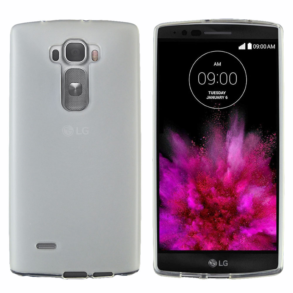 G Flex 2 Case, [Clear / Frost] Slim & Flexible Crystal Silicone TPU Skin Cover for LG G Flex 2