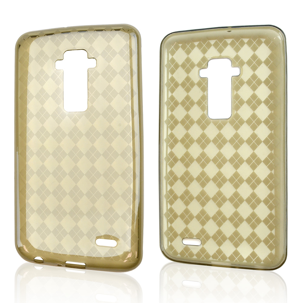 Smoke Argyle Crystal Silicone Skin Case for LG G Flex