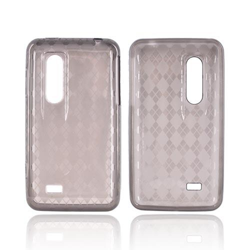 LG Thrill 4G Crystal Silicone Case - Smoke