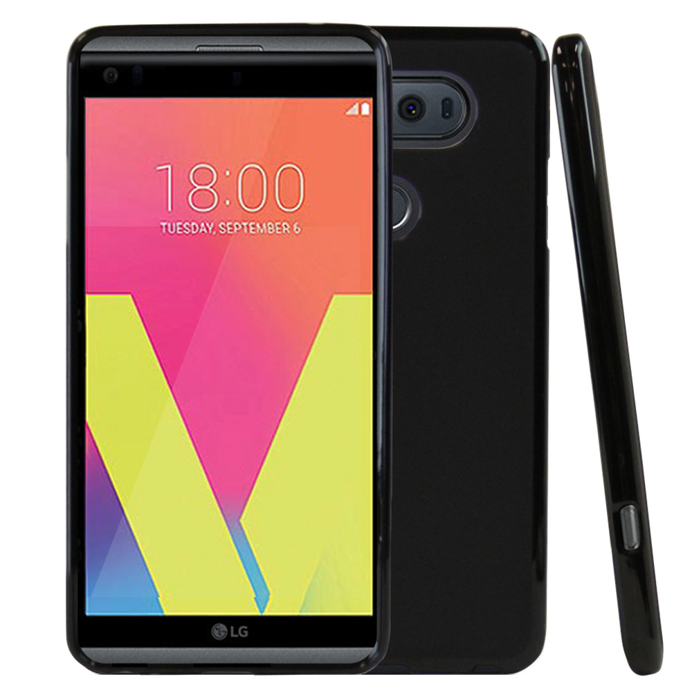 LG V20 TPU Case, REDshield [Black] Slim & Flexible Anti-shock Crystal Silicone Protective TPU Gel Skin Case Cover with Travel Wallet Phone Stand