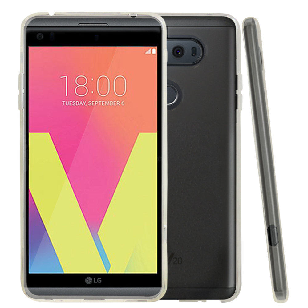 LG V20 TPU Case, REDshield [Clear] Slim & Flexible Anti-shock Crystal Silicone Protective TPU Gel Skin Case Cover with Travel Wallet Phone Stand