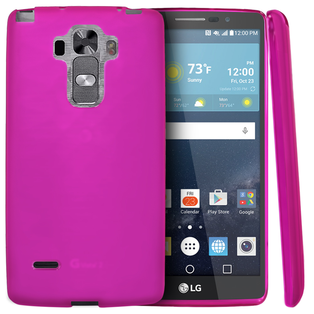 LG G Vista 2 Case, [Hot Pink] Slim & Flexible Crystal Silicone TPU Protective Case