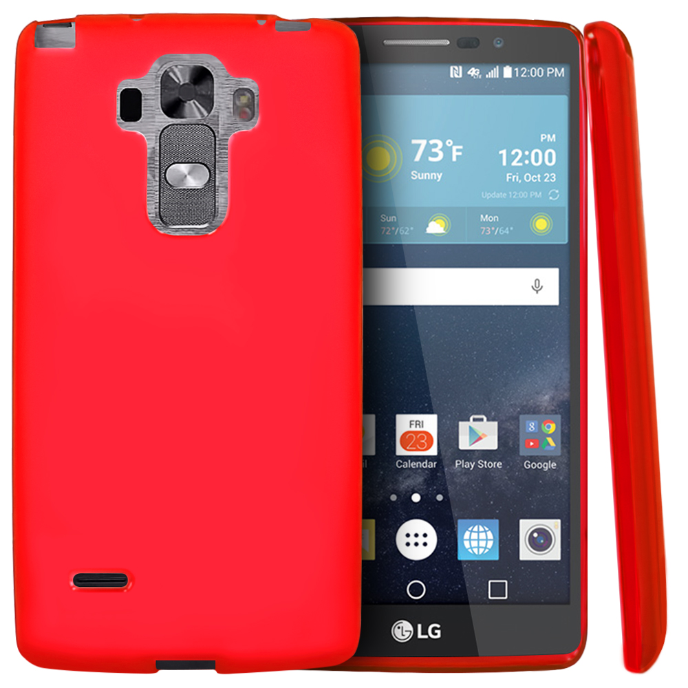 LG G Vista 2 Case, [Red] Slim & Flexible Crystal Silicone TPU Protective Case