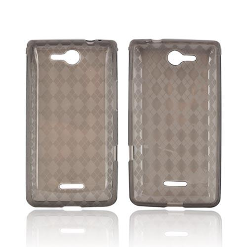 LG Lucid VS840 Crystal Silicone Case - Argyle Smoke