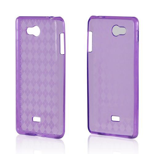 Argyle Purple Crystal Silicone Case for LG Spirit 4G