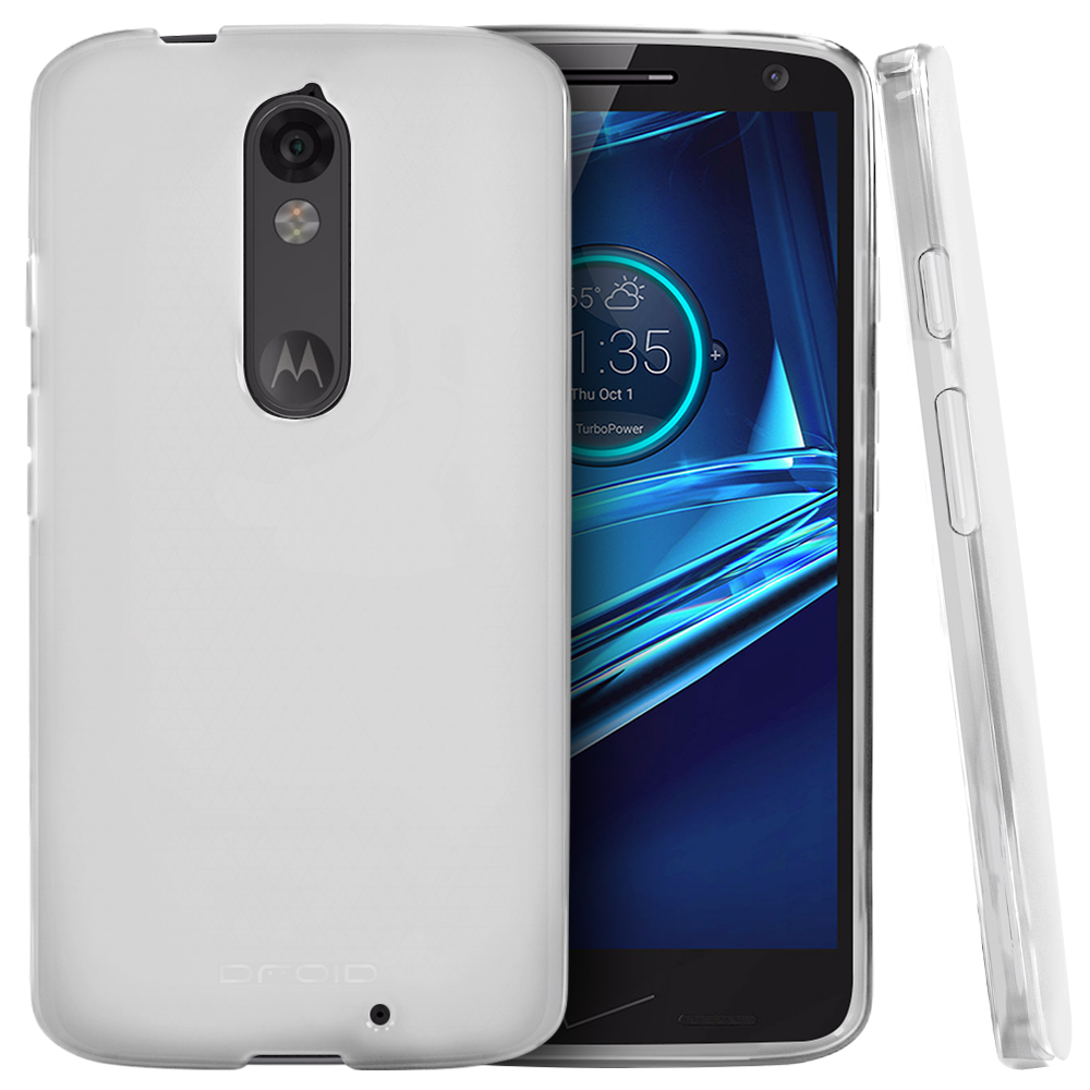 Motorola Droid Turbo 2 Case,  [Frost Clear]  Slim & Flexible Anti-shock Crystal Silicone Protective TPU Gel Skin Case Cover