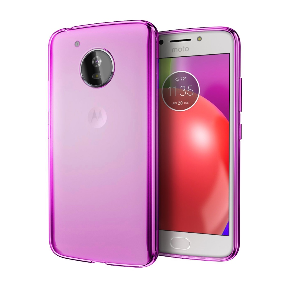 [REDshield] Motorola Moto E4 PLUS Case, [Hot Pink] Slim & Flexible Anti-shock Crystal Silicone Protective TPU Gel Skin Case Cover