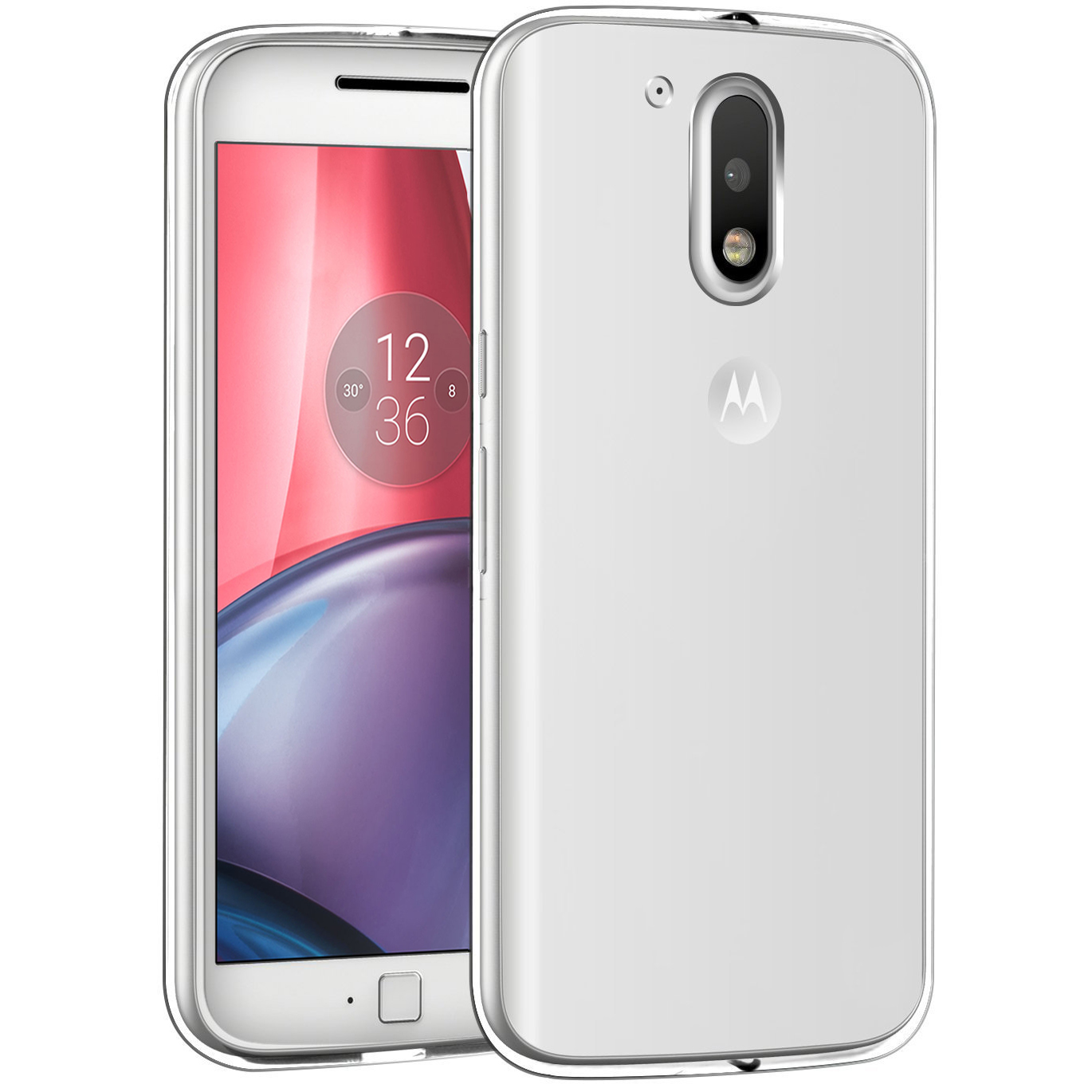 Motorola Moto G4 2016 (4th Gen.) Case, [Clear] Slim & Flexible Anti-shock Crystal Silicone Protective TPU Gel Skin Case Cover with Travel Wallet Phone Stand