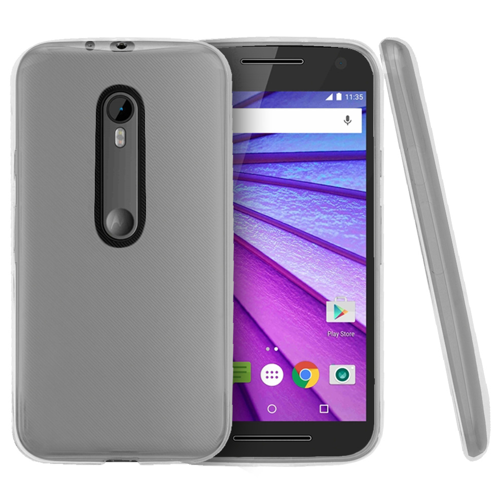 Motorola Moto G 2015 Case, [Clear] Slim & Flexible Crystal Silicone TPU Protective Case
