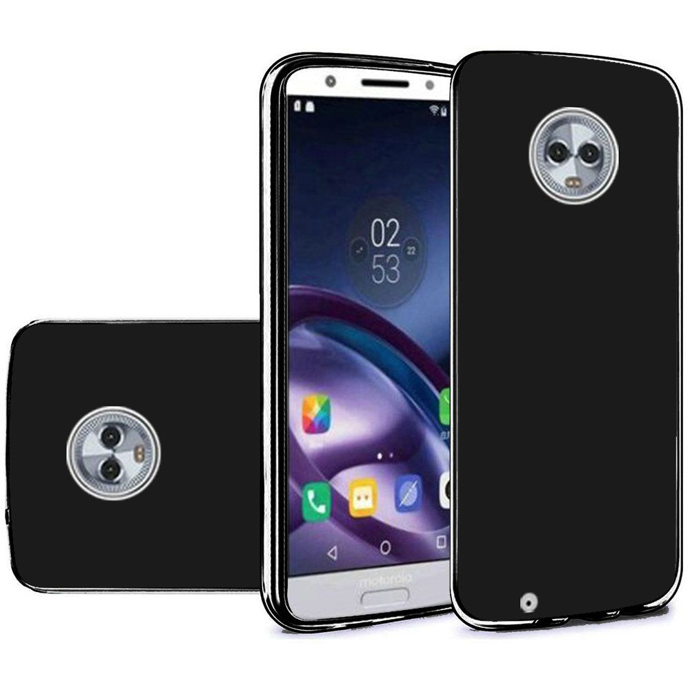 RED SHIELD Motorola Moto G6 (2018) Gel Soft Case, Slim and Flexible, Anti-Shock Silicone Protective Skin [Black]