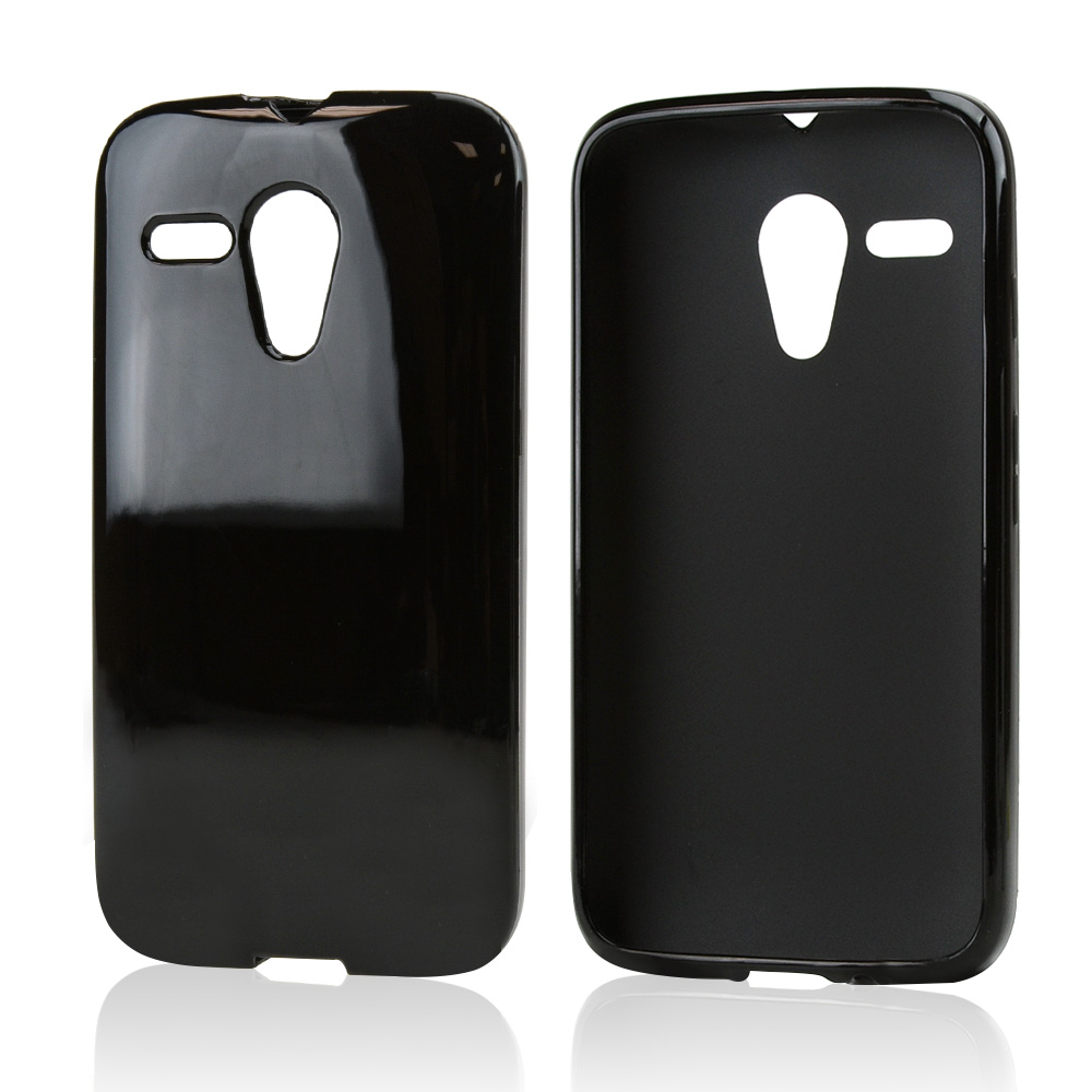 Black Crystal Silicone Skin Case for Motorola Moto G