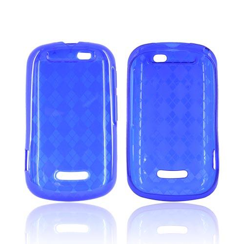 Motorola Clutch+ i475 Crystal Silicone Case - Argyle Blue