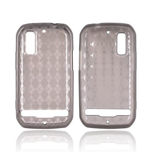 Motorola Photon 4G Crystal Silicone Case - Argyle Smoke