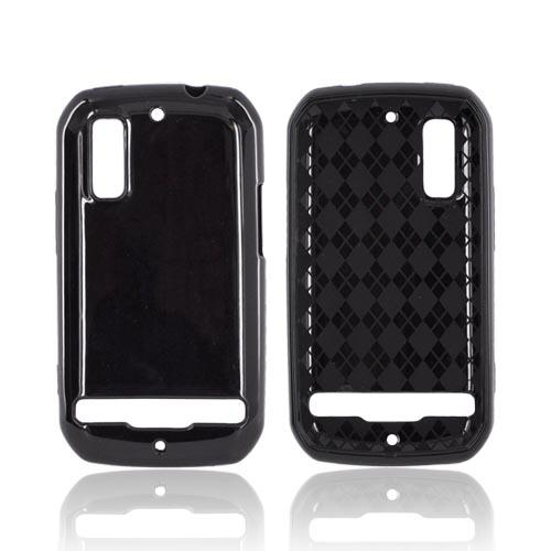 Motorola Photon 4G Crystal Silicone Case - Black (Argyle Interior)