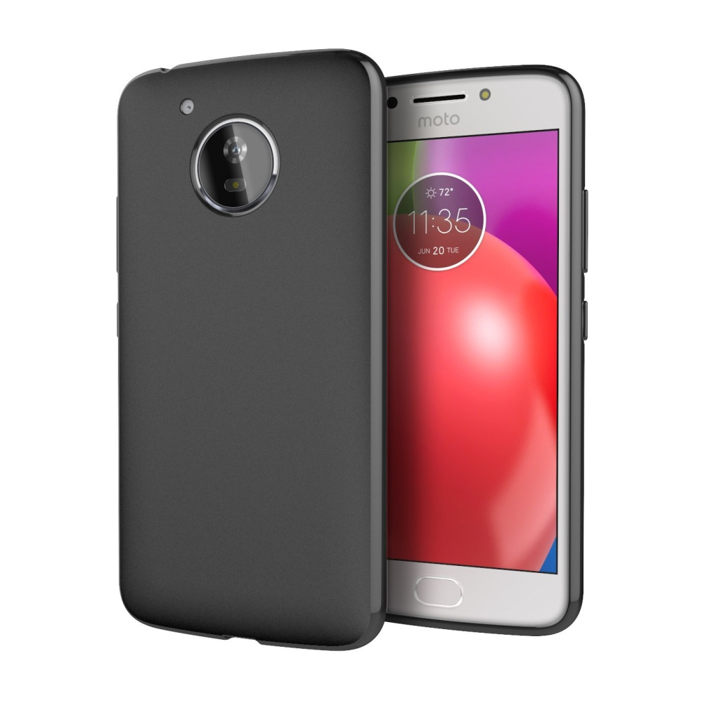 Motorola Moto E4 TPU Case, [REDshield] Slim & Flexible Anti-shock Crystal Silicone Protective TPU Gel Skin Case Cover [Black]