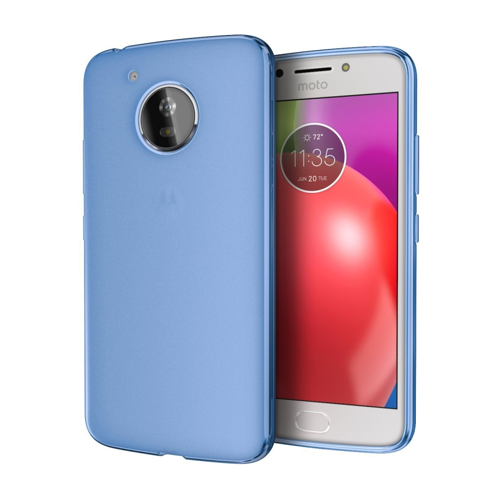 Motorola Moto E4 TPU Case, [REDshield] Slim & Flexible Anti-shock Crystal Silicone Protective TPU Gel Skin Case Cover [Blue]