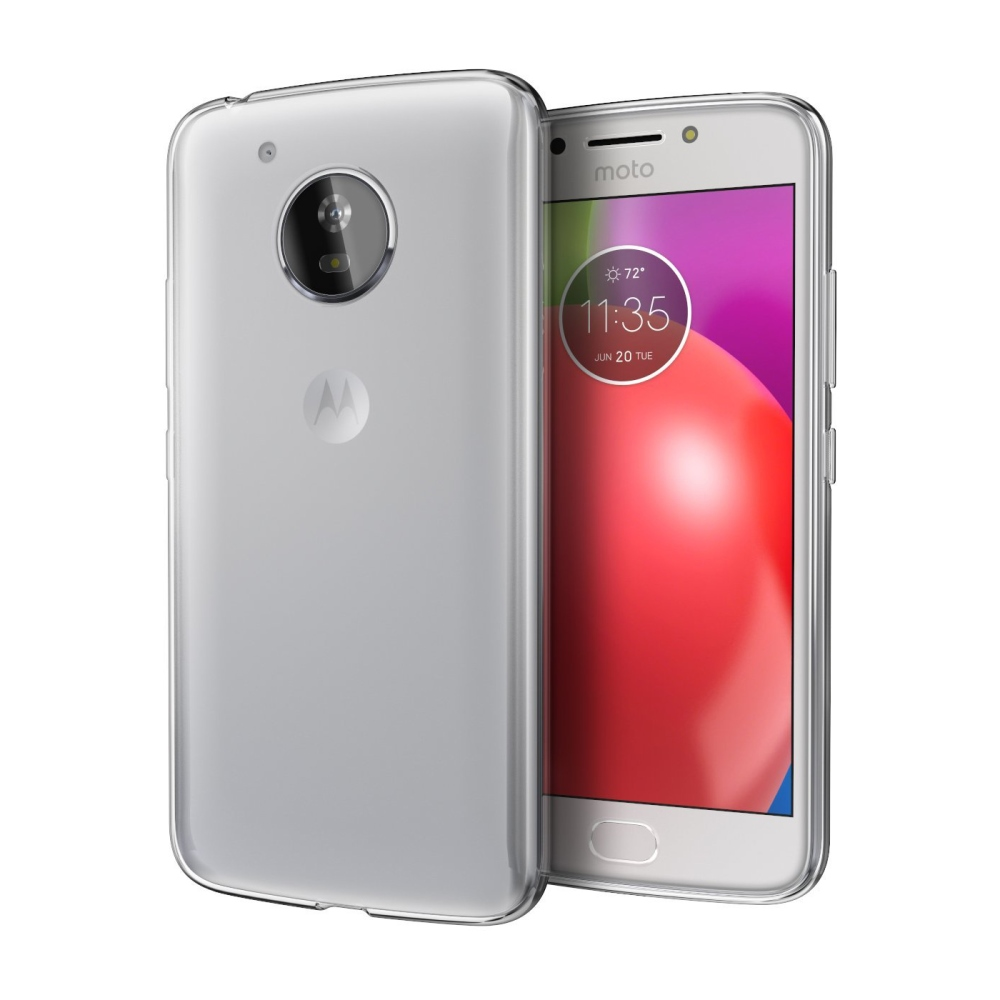 Motorola Moto E4 TPU Case, [REDshield] Slim & Flexible Anti-shock Crystal Silicone Protective TPU Gel Skin Case Cover [Frosted Clear]