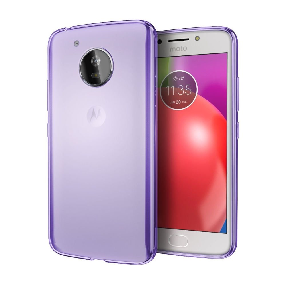 Motorola Moto E4 TPU Case, [REDshield] Slim & Flexible Anti-shock Crystal Silicone Protective TPU Gel Skin Case Cover [Purple]