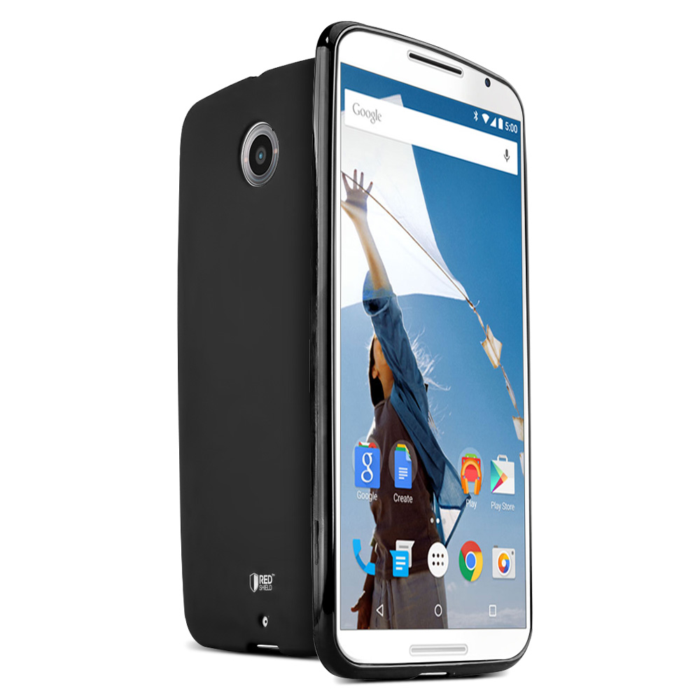 Nexus 6 TPU Case by REDshield [Black] Featuring Impact Resistant Flexible Crystal Silicone TPU with Protective Bumper