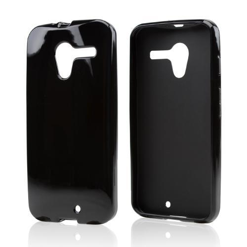 Black Crystal Silicone Skin Case for Motorola Moto X(2013 1st Gen)