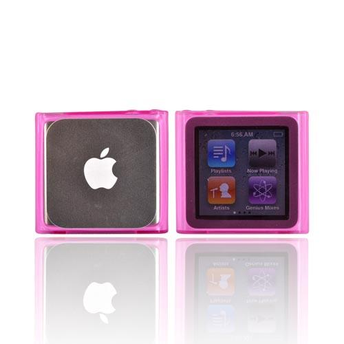Luxmo Apple iPod Nano 6 Crystal Silicone Case - Hot Pink