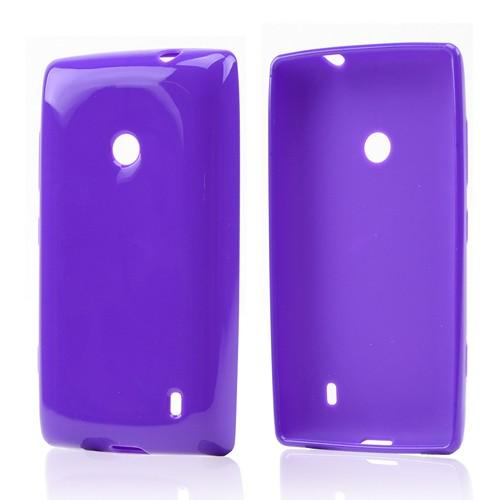 Purple Crystal Silicone Case for Nokia Lumia 521