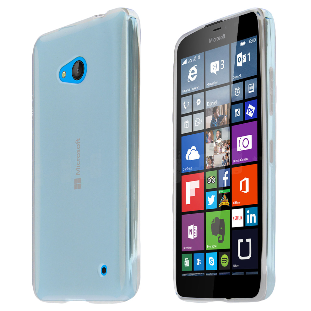 Nokia Lumia 640 Case, Clear Slim & Flexible Anti-shock Crystal Silicone TPU Skin Protective Case for Lumia 640