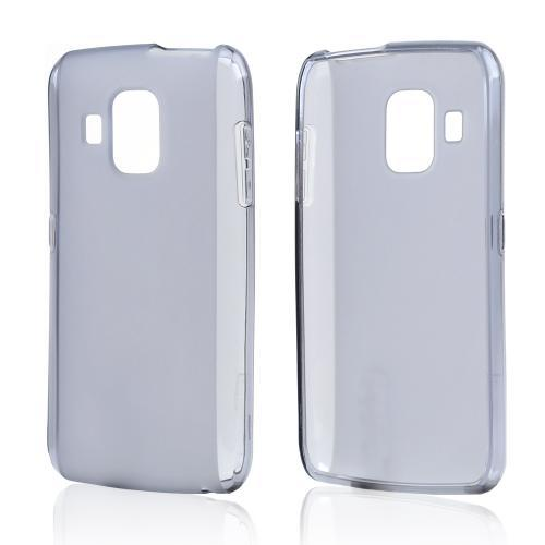 Smoke Crystal Silicone Case w/ Frosted Back for Pantech Perception