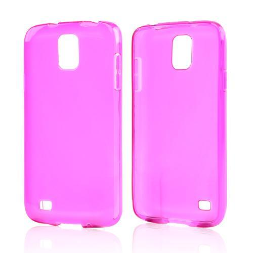 Hot Pink Crystal Silicone Skin Case for Samsung Galaxy S4 Active