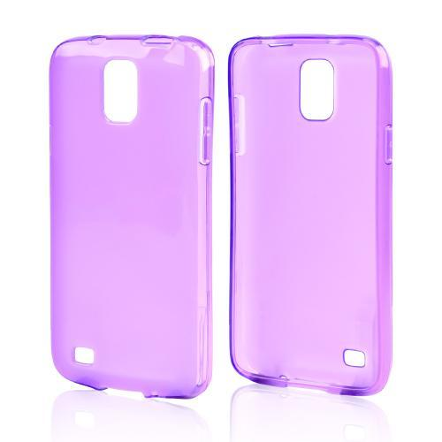 Purple /Frosted Crystal Silicone Skin Case for Samsung Galaxy S4 Active