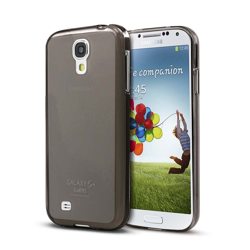 Smoke/ Frosted Matte Crystal Silicone Skin Case for Samsung Galaxy S4