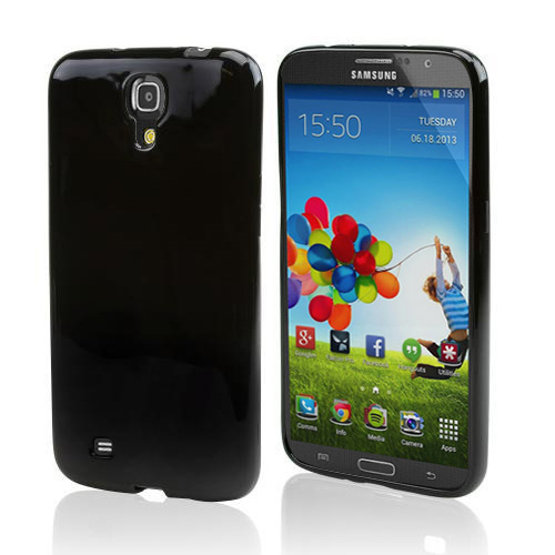 Black Crystal Silicone Skin Case for Samsung Galaxy Mega 6.3