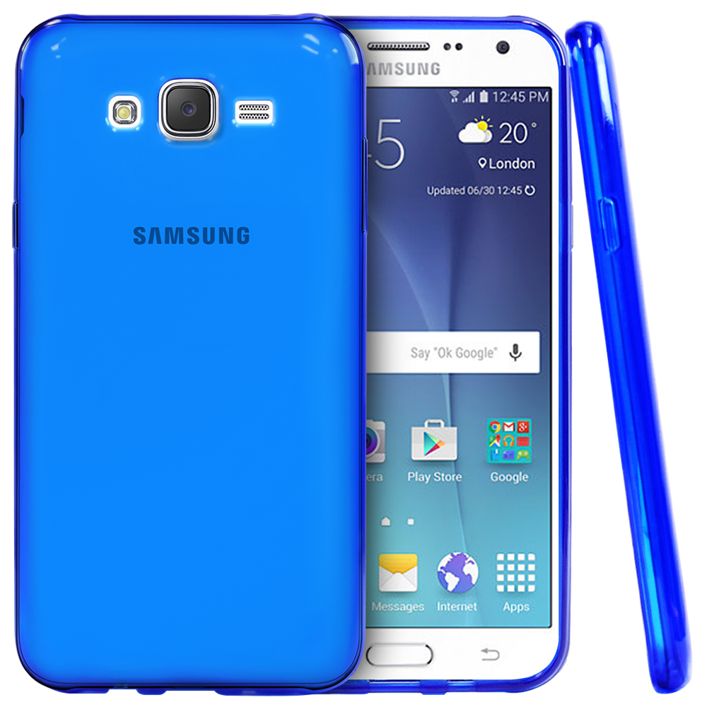 Samsung Galaxy J7 (2015) Case, REDShield [Blue]  Slim & Flexible Anti-shock Crystal Silicone Protective TPU Gel Skin Case Cover