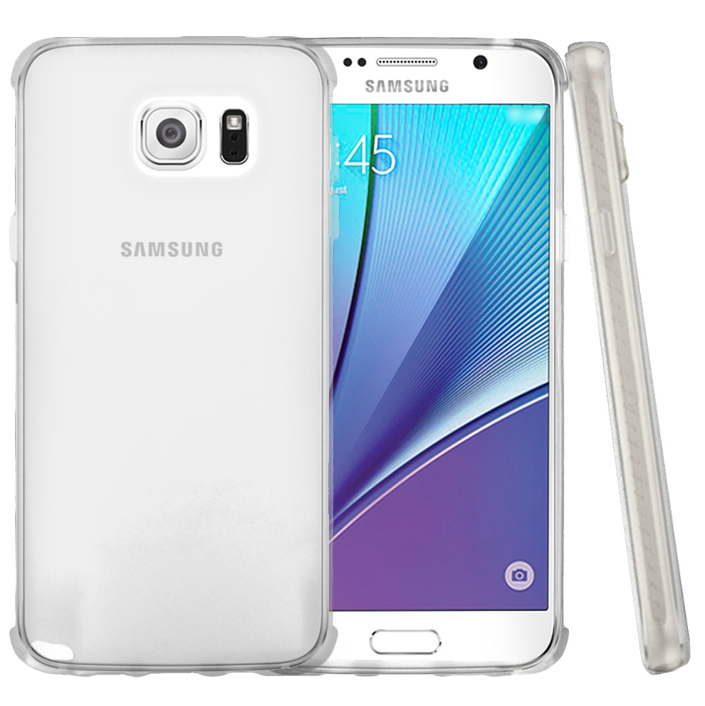 Samsung Galaxy Note 5, [Clear]  Slim & Flexible Anti-shock Crystal Silicone Protective TPU Gel Skin Case Cover