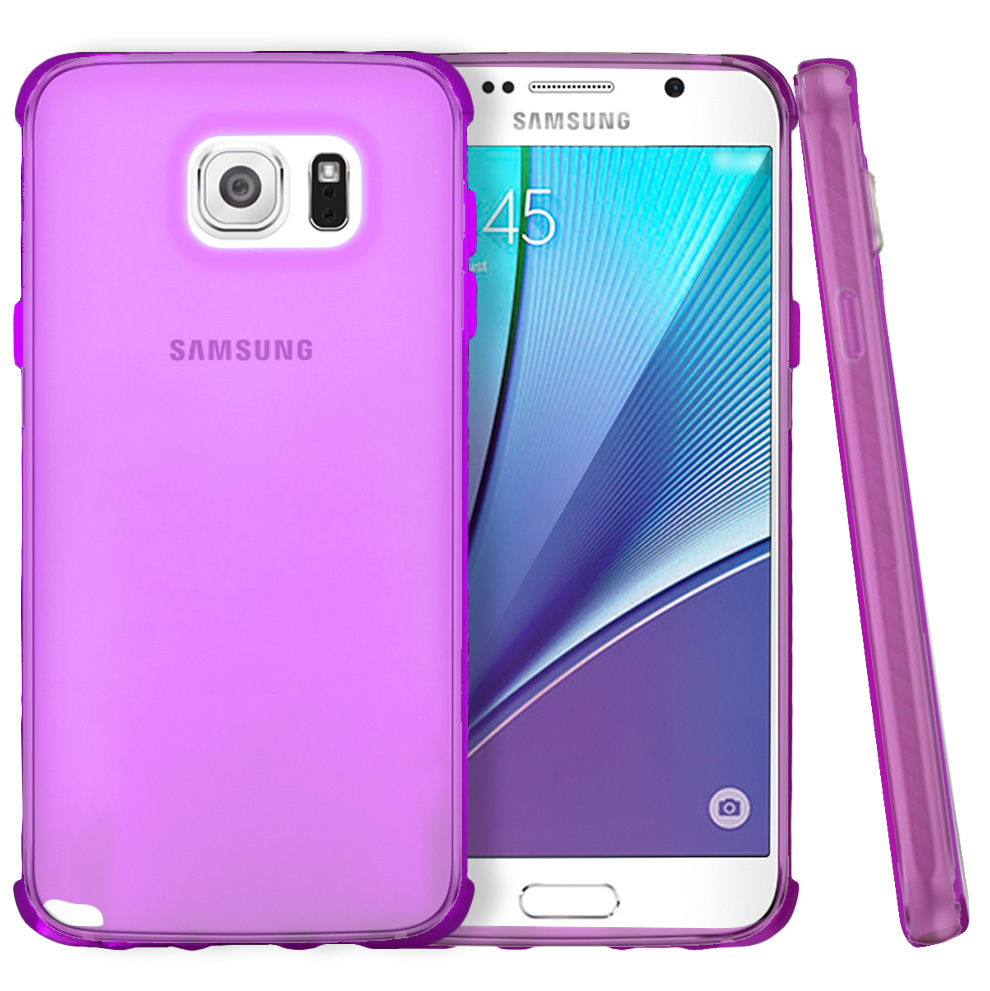 Samsung Galaxy Note 5, [Hot Pink]  Slim & Flexible Anti-shock Crystal Silicone Protective TPU Gel Skin Case Cover