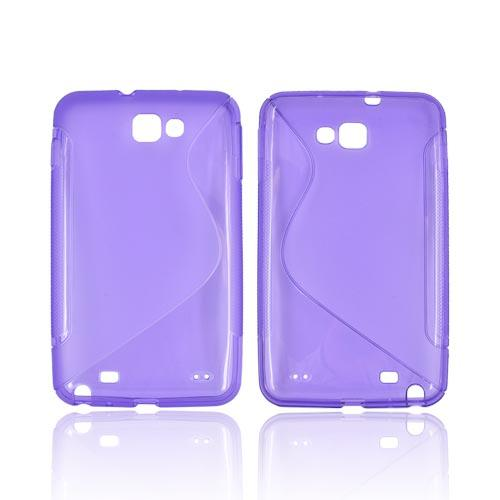 Samsung Galaxy Note Crystal Silicone Case - Transparent Purple & Frost Purple S