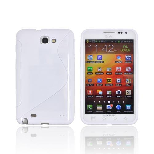 Samsung Galaxy Note Crystal Silicone Case - White S