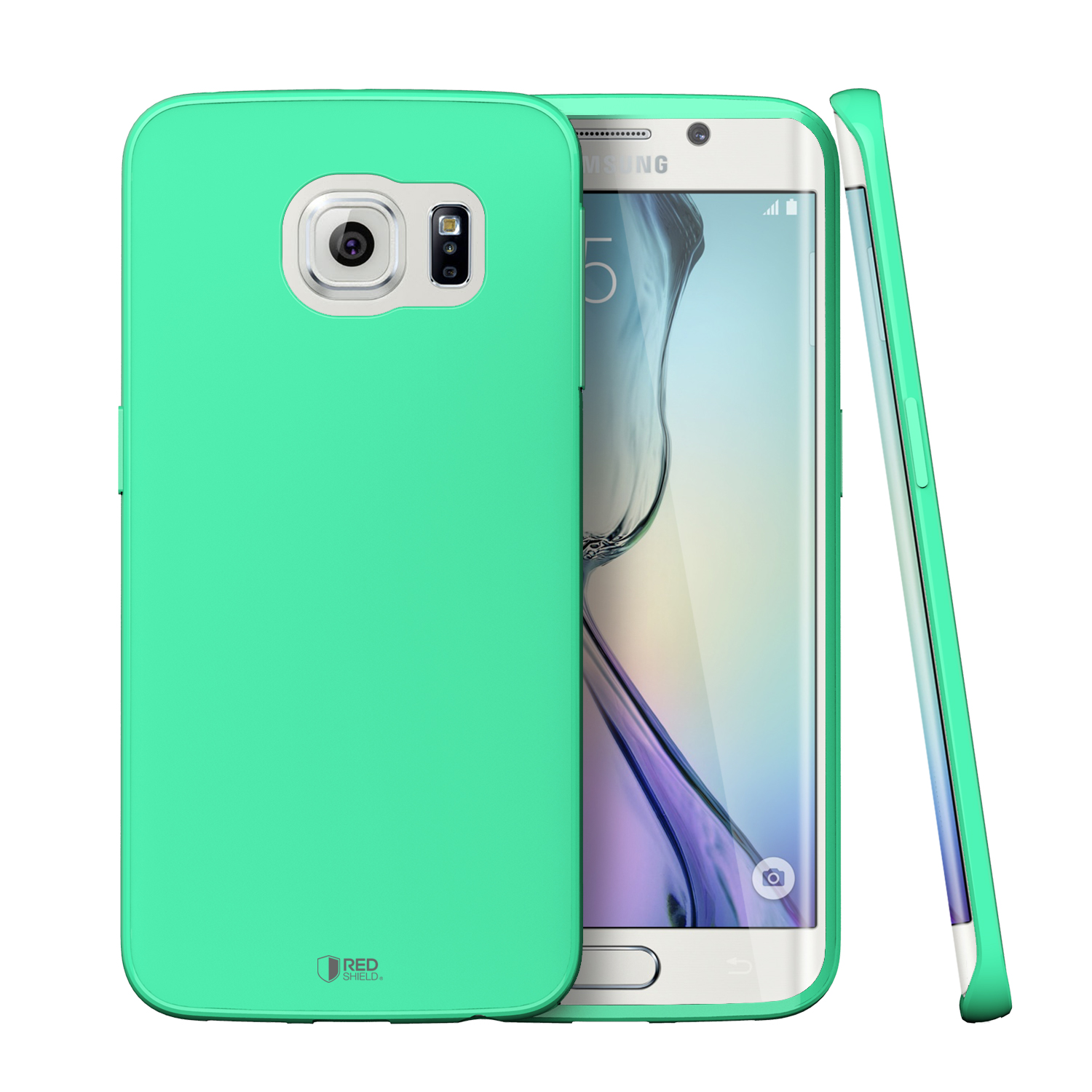 Samsung Galaxy S6 Edge Case,  [Fresh Mint]  Slim & Flexible Anti-shock Crystal Silicone Protective TPU Gel Skin Case Cover