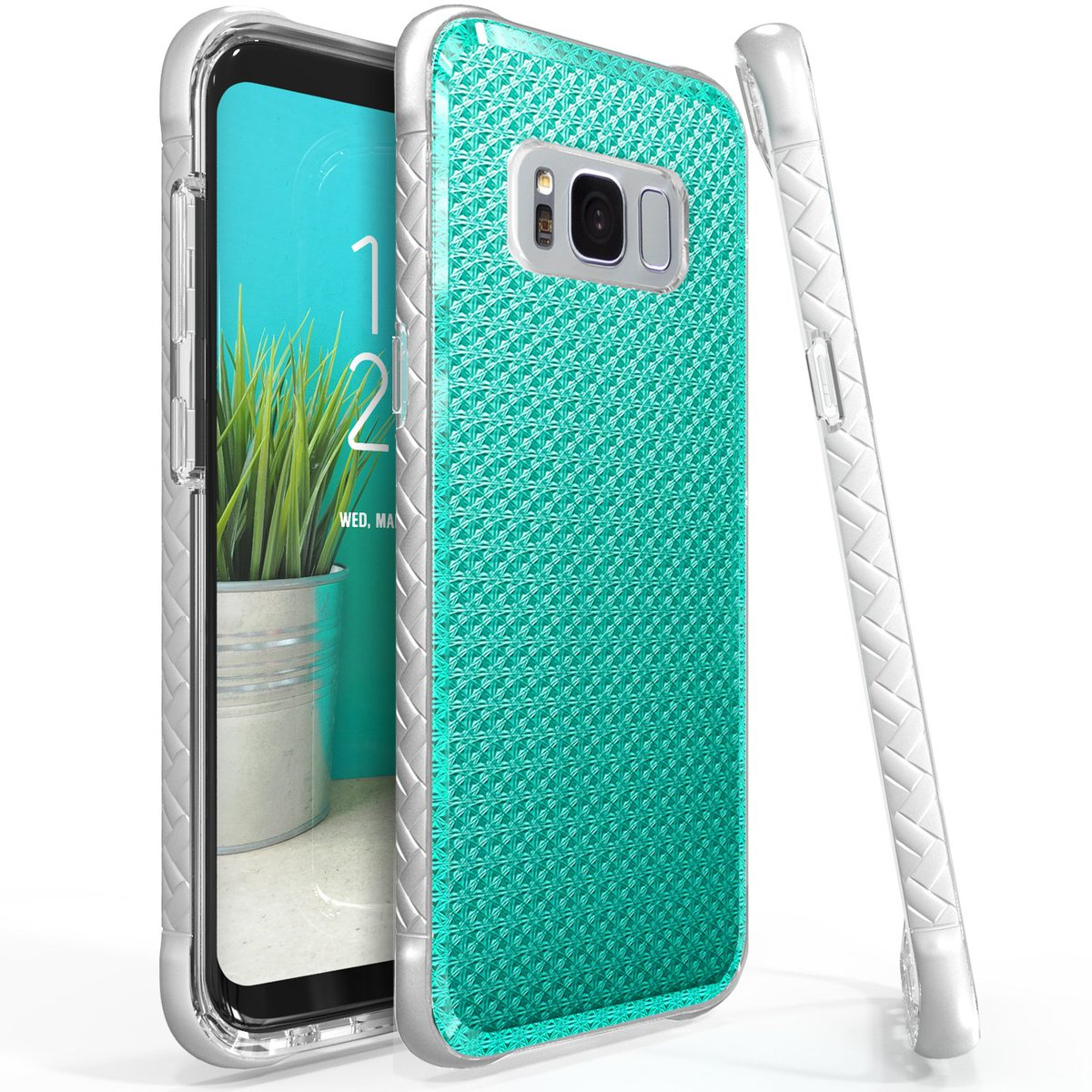 Scottii Samsung Galaxy S8 Plus Case, [Blue] Slim & Flexible Anti-shock Crystal Silicone Protective TPU Case