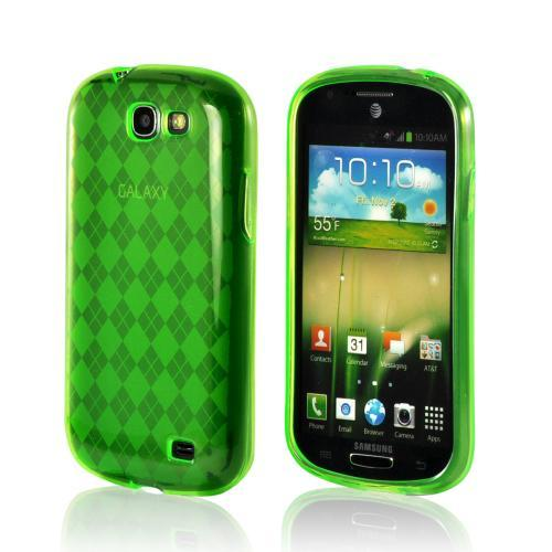 Green Argyle Crystal Silicone Case for Samsung Galaxy Express