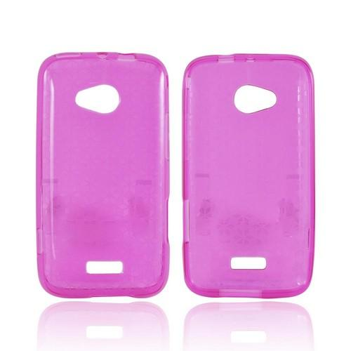 Samsung Galaxy Victory 4G LTE Crystal Silicone Case - Hot Pink Hex Star