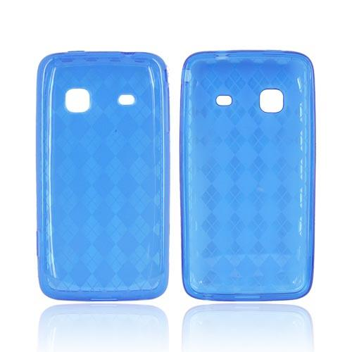 Samsung Prevail M820 Crystal Silicone Case - Blue Argyle