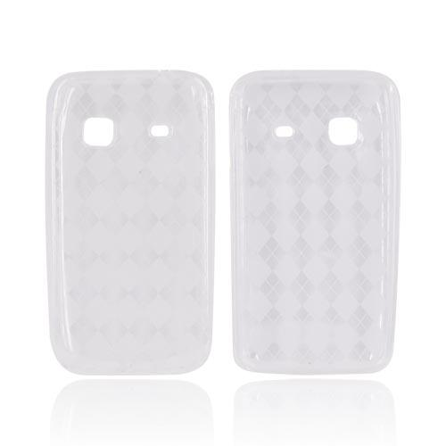 Samsung Prevail M820 Crystal Silicone Case - Clear Argyle